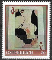 """0055: Personalisierte Briefmarke Kunst ArtDeco """"Berlin 1922, Erotische Dame Mit Klecks Auf Dem Busen""""- Weinrot ** - Timbres Personnalisés"""