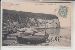 76 -YPORT  -Falaise D'Aval..1906  ( CAIQUE  F 1817 ) - Yport