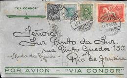 EL MINISTRO RAMOS MONTERO EN MONTEVIDEO AÑO 1937 LE REMITE ESTE SOBRE POR CORREO AEREO VIA CONDOR A LUZ PINTO DA LUZ EN - Uruguay
