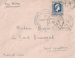 ALGERIE - CHERCHELL - 30-4-1945 - CACHET ECOLE MILITAIRE INTER ARMES - MARIANNE D'ALGER 1F50 SEUL POUR LA FRANCE - Lettres & Documents