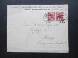 DR 1898 Social Philately Heimat Für Junge Mädchen Und Frauen Gebildeter Stände An Frau Baronin Seefried In Haag Niederla - Covers & Documents