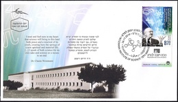 ISRAEL 2019 - Weizmann Institute Of Science 70th Anniversary - A Stamp With A Tab - FDC - Chemistry