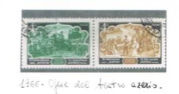 URSS - SG 3345.3346    - 1966   AZERBAIJAN OPERAS    (COMPLET SET OF 2 SE-TENANT) -  USED  - RIF. CP - 1923-1991 USSR