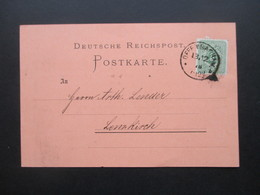 DR 1876 Pfennige Nr. 32 EF Gedruckte Firmenkarte Seifen & Lichter Fabrik Becker & Steeb Offenbach - Covers & Documents