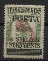 ALBANIA, OVERPRINT COMET 05 QUINT 1919, NH - Albanien