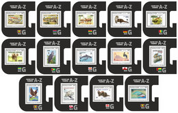 NIGER 2019 - WWF Fauna On Stamps G, 14 S/S. Official Issue. - Unused Stamps
