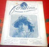 FEMINA N°48 Janvier 1903 Sarah Bernhardt Théroigne De Méricourt,Belle Otéro En De Dion Bouton,Mme Alphonse Daudet - Books, Magazines, Comics