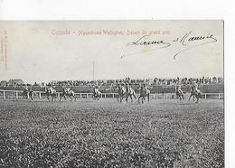 1 Cpa Ostende. Hippodrome Wellington : Départ Du Grand Prix : Chevaux, Jockeys - Oostende