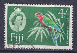 Fiji 1964 Mi. 164aX     4 Sh Bird Vogel Oiseau Kandavu Parrot - Fiji (1970-...)