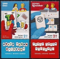 ISRAEL 2019 - Israeli Board Games - TAKI & RUMMIKUB - A Pair Of Stamps With Tabs - MNH - Games