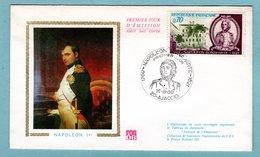 FDC France 1969 - Bicentenaire De La Naissance De Napoléon Bonaparte YT 1610 - 20 Ajaccio - 1960-1969