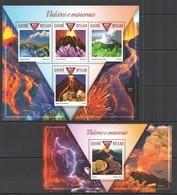ST1069 2015 GUINE GUINEA-BISSAU GEOLOGY MINERALS & VOLCANO VULCOES E MINERAIS KB+BL MNH - Volcanos