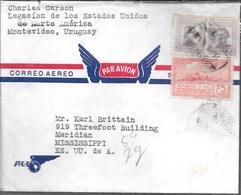 CHARLES CARSON LEGACION DE LOS ESTADOS UNIDOS DE NORTE AMERICA EN MONTEVIDEO URUGUAY AÑO 1941 LE ENVIA ESTE SOBRE A KARL - Uruguay