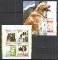 ST1133 2015 GUINE GUINEA-BISSAU FAUNA PETS DOGS CAES KB+BL MNH - Hunde