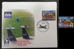 NORTH MACEDONIA 2019 - WORLD CUP - FENIX DRONE RACE PRILEP MNH + FDC - Mazedonien
