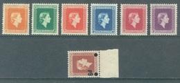 NZ - 1954-1963 - MNH/** - ELISABETH II - Yv 114 116 118-121 124 - Lot 20763 - Dienstzegels
