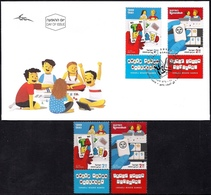 ISRAEL 2019 - Israeli Board Games - TAKI & RUMMIKUB - A Pair Of Stamps With Tabs - MNH & FDC - Games