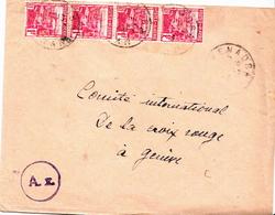 Postal History Cover: Algeria Cover To Red Cross Geneva - Red Cross