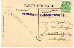Griffe PAQUEBOT ELISABETHVILLE Sur CV Du Congo Vers La Belgique - Belgisch-Kongo