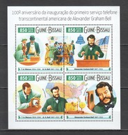 ST919 2015 GUINE GUINEA-BISSAU FAMOUS PEOPLE ALEXANDER GRAHAM BELL 100TH ANNIVERSARY 1KB MNH - Other