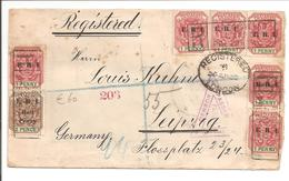 Transvaal E.R.I. OVPT. Censored Boer War Registered Pretoria Triangel Via London To Leipzig Deutschland - Südafrika (...-1961)