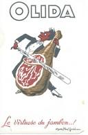 Buvard OLIDA (Le Virtuose Du Jambon). - Lebensmittel