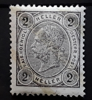 OSTERREICH AUSTRIA AUTRICHE, 1899, Franz Josef I,  Yvert No 66 A, 2 H Gris LIGNES BRILLANTES Neuf ** MNH , TTB - 1850-1918 Imperium
