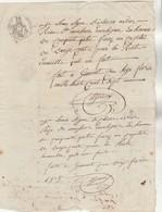 16/2/1807 à 13/3/1811 Reçus Manuscrit De Montlezun Cazeaux Gimont Gers  Filigrane Timbre National - Manuscrits