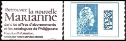 France Autoadhésif N° 1603,A ** Marianne L'Engagée - Datamatrix Europe De Carnet - France