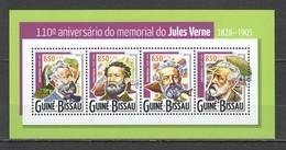 ST948 2015 GUINE GUINEA-BISSAU FAMOUS PEOPLE 110 ANNIVERSARY JULES VERNE 1KB MNH - Schrijvers