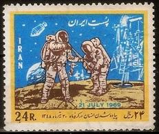 Iran 1969. Space. The First Man On The Moon, Apollo 11.  MNH - Espacio