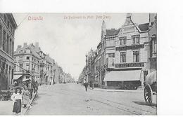 1 Cpa Ostende : Le Boulevard Du Midi : Petit Paris. Magasin Delhaize Frères & Cie. Enfants - Oostende
