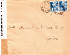 Postal History Cover: Algeria Cover From 1943 To Red Cross Geneva Opened By Examiner 1425 And German Censors, Too - Red Cross