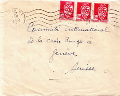 Postal History Cover: Algeria Cover From 1943 To Red Cross Geneva Opened By German Censors - Red Cross
