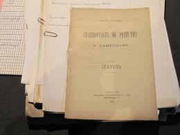 LAMBUSART - CHARBONNAGE - Lot De Documents Divers, Statuts, Comptes, Correspondances .... Voir Scans - Documents Historiques