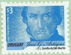 Uruguay 2019 ** Serie Permanente: Artigas Celeste $3.00. - Celebridades