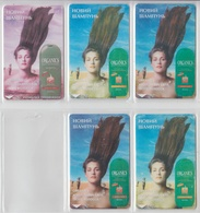 UKRAINE 1998 SHAMPOO ORGANICS 5 DIFFERENT CARDS - Ukraine