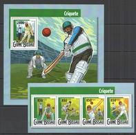 ST980 2015 GUINE GUINEA-BISSAU SPORT CRICKET CRIQUETE KB+BL MNH - Cricket