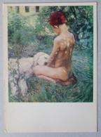 15592 Borisov-Musatov Naked Boy With A Dog - Paintings