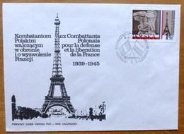 1978 Poland Stamp First Day Cover-Monument & Eiffel Tower No D-768 - FDC