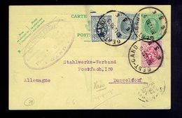 COB 193 + 279 + 286 / CP 79 Gent 30.12.30 => Dusseldorf ( All. ) Repiquage Reyniers Frères Au Verso - Entiers Postaux