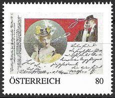 """0055: Personalisierte Briefmarke """"Nachtclub-/ Vorstadt- Mizzi Aus Der Leopoldstadt 1910"""" - Timbres Personnalisés"""