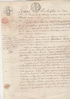 28/2/1819 Manuscrit 4 Pages Comte De Montlezun Cazeaux Gimont Gers - Filigrane à Cheval Timbre Royal - Manuscrits