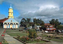1 AK Chile / Island Chiloe * Hauptattraktion Der Stadt Chonchi Ist Die Kirche San Carlos De Borromeo - 2000 UNESCO Erbe - Chile