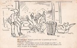 CPA Illustrateur Inconnu. Patois Saintongeais / Charentais. Histoire Humoristique. Saint Aigulin - Francia