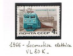 URSS - SG 3269  - 1966  ELECTRIC LOCOMOTIVE VL 80K   -  USED°  - RIF. CP - 1923-1991 USSR