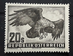 OSTERREICH AUSTRIA AUTRICHE,1950 LUFTPOST POSTE AÉRIENNE No 60, 20 S Brun AIGLE ROYAL EAGLE,   TB - Posta Aerea