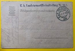 9562 - ILandsturmartillerieabteilung Nr 10/1 Feldpostamt 186 02.04.1916 - Covers & Documents