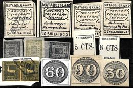 648 -  1880-1930 - WORLD WIDE SMALL SELECTION OF FORGERIES, FALSES, FALSCHEN, FAKES, FALSOS - Collections (sans Albums)