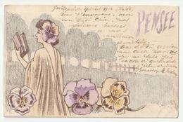 *** FEMME *** Illustration De St MAXEN *** Pensée *** 1902 *** - Mujeres